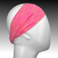 Light Performance Spandex Headband by Ponya Bands in Pink Heather | ponyabands.com