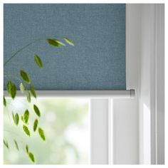 TRETUR light blue, Block-out roller blind, cm. With block-out blinds you won't get your sleep disturbed by moonlight and street lights - or be woken by the sun when you want to sleep in late. Roller Shades, Roller Blinds, Drapes And Blinds, Curtains, Ikea Canada, Cellular Blinds, Ceiling Materials, Bedroom Drapes, Blackout Blinds