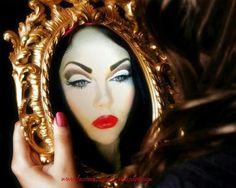 Evil queen make up!!!