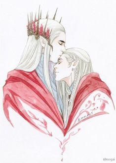 Thranduil & Legolas by Hiroro711