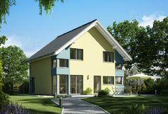 Evolution 136 V5 - Bien Zenker - http://www.hausbaudirekt.de/haus/evolution-136-v5/ - Fertighaus als Einfamilienhaus Modernes Haus Stadthaus mit Satteldach
