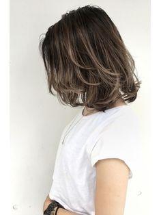 Brown Hair Highlights Balayage Bob Hairstyles New Ideas Medium Hair Cuts, Short Hair Cuts, Medium Hair Styles, Long Hair Styles, Messy Bob Hairstyles, Black Hairstyles, Haircuts, Shot Hair Styles, Balayage Hair