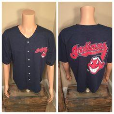 1996 Cleveland Indians Jersey Shirt // Vintage by VintageCLE216