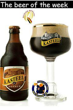 Kasteel Donker is a Belgian quadrupel styled dark ale with an alcohol content of ABV. Kasteel Donker is brewed by Castle Brewery Van Honsebrouck. Frango Tandoori, Beer Shop, Cooking With Beer, Dark Beer, Belgian Beer, Brew Pub, Beer Label, Wine And Beer, Beer Brewing