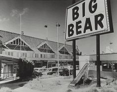 Electric sign and front view of Big Bear Supermarket, Military Road, Neutral Bay c1963 - (North Sydney Council)