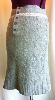 56b6b144ac A ladies skirt upcycled from a men s sweater