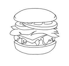 junk food of hamburger coloring pages food coloring pages kidsdrawing free coloring pages