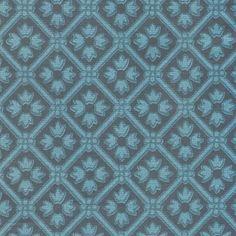 Vintage Laura Ashley, Floral / Light Blue Flowers on Dark Blue Background