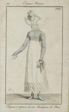 Costume Parisien, 1811, From the Bibliothèque des Arts Décoratifs via SceneInThePast flickr. plate 1188