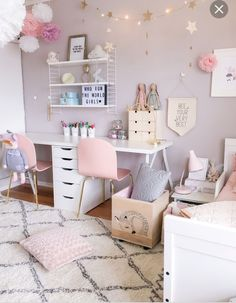 Inspiring Girls' Bedroom Ideas Feeling inspired to change the decor of your daughter's room? Check out our favorite girls' room ideas.Feeling inspired to change the decor of your daughter's room? Check out our favorite girls' room ideas. Cute Bedroom Ideas, Girl Bedroom Designs, Girls Bedroom Colors, Design Bedroom, Pretty Bedroom, Girls Bedroom Accessories, Bedroom Themes, Girls Room Design, Gurls Bedroom Ideas