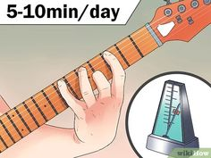 3 Ways to Be a Good Guitar Player - wikiHow Music Theory Guitar, Guitar Chord Chart, Guitar Tabs, Music Guitar, Playing Guitar, Learning Guitar, Learning Music, Guitar Notes, Box Guitar