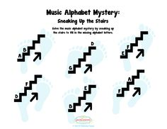 The Plucky Pianista: Music Alphabet Mystery - Sneaking UP the Stairs
