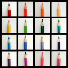 Colored pencil typology by Chelsea Thompson.