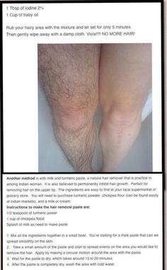 Hairless legs without shaving. Something to consider if it really works!!!