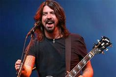 """Dave Grohl lead vocalist/guitarist of the band """"The Foo Fighters"""" former drummer of the band """"Nirvana"""""""