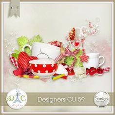 """A beautiful pack """"DESIGNERS CU 59"""" by StarLight Designs."""