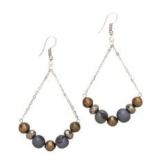 Acai Earrings- Slate Blue ~ Our likeminded friends at the Faire Collection share our passion for providing makers with the tools they need in order to succeed in the marketplace. Based out of New York, the designers from Faire Collection collaborate with makers in Ecuador to translate traditional skills and natural materials into modern jewelry pieces that are high-quality and timeless.