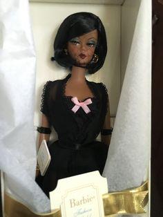 Silkstone Barbie Lingerie African American Beautiful NRFB NIB (new in box) Online Garage Sale, Mattel Dolls, Ball Jointed Dolls, Peplum Dress, African, Lingerie, Contemporary, Box, Unique
