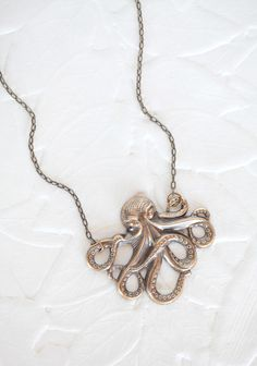 Octopus Pendant Necklace By Amano Studio, sold at Ruche. Need to buy this one for one of my girlfriends.