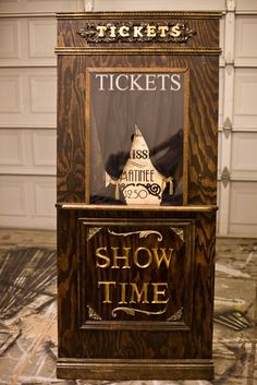 DIY Build Your Own Ticket Booth