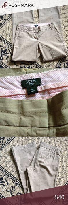 ⚓️💓J. Crew Khaki Twill Pants☀️🌻 LIKE NEW! City Fit Style Tan Pants by J. Crew Size 6R J. Crew Pants