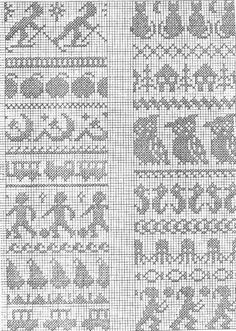 DIVNA'S SWEATERS: My collection of knitting chart patterns, jacquard style of kn. DIVNA'S SWEATERS: My collection of knitting chart patterns, jacquard style of knitting for children Always wanted to lea. Cross Stitch Borders, Cross Stitch Charts, Cross Stitch Embroidery, Cross Stitch Patterns, Knitting Paterns, Knitting Charts, Knitting Stitches, Start Knitting, Crochet Cross