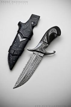 Beautiful! André Andersson Custom Damascus Knives - Knives, Daggers, Swords and Artknives from Sweden