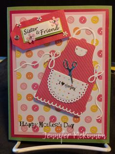 Apron of love Stampinup card Mother's day