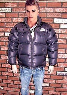 Jacket Men, Leather Jacket, Puffer Jackets, Winter Jackets, Pvc Raincoat, Hot Boys, The North Face, Dj, Overalls