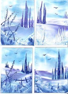 some of my encaustic art paintings