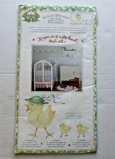 Susan Branch Stencil Border Duck Family Baby Nursery Newborn Bedroom Baby Ducks…