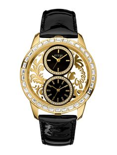 {Black & Gold} Guess watch
