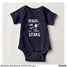 Reach For The Stars Baby All In One Bodysuit