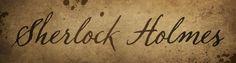 Handwritten Sherlock Holmes font based on the SH09...