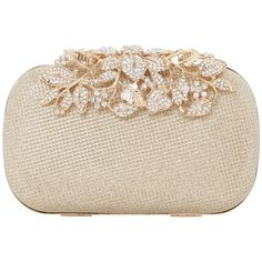 Dune Emberrs Box Clutch Bag, Gold (€77) ❤ liked on Polyvore featuring bags, handbags, clutches, gold purse, gold evening purse, man bag, gold evening clutches and evening purses