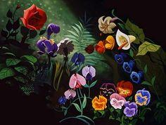 Mary Blair (Alice in Wonderland flowers)