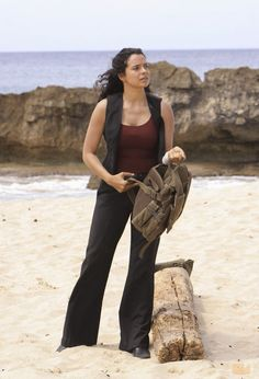 Zuleikha Robinson as Ilana on LOST. One of my very favorite scenes on the whole show is the exchange she has with Ben Linus in season six--it sends chills down my spine at how perfect and redemptive it is.