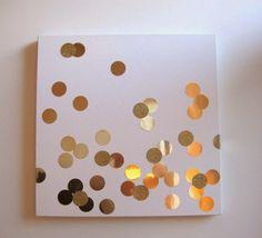 DIY confetti art | 19 Simple DIY Wall Decor Ideas