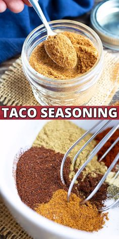DIY Taco Seasoning Recipe Homemade Taco Seasoning is the best DIY recipe that is made up of only seven easy-to-find ingredients! You can use this Paleo, gluten-free, and taco seasoning mix as a healthy alternative to a store b Gluten Free Taco Seasoning, Taco Seasoning Mix Recipe, Chicken Taco Seasoning, Seasoning Mixes, Mccormick Taco Seasoning Recipe Copycat, Taco Seasoning Ingredients, Homemade Spice Blends, Homemade Spices, Dry Rubs