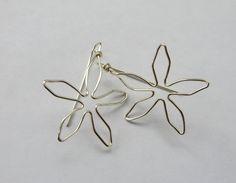 Silver Daisy Earrings Flower Earrings Copper Gold or by JoJosgems