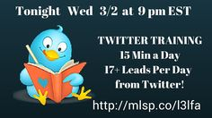 Join me tonight and learn some cool Twitter tricks http://mlsp.co/l3lfa