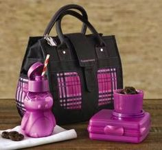 HI-HO HI-HO WITH TUPPERWARE WE GO: Purpliciously Posh Lunch Set - On Sale Now Fashionable insulated lunch bag with a Pengui Water Bottle, Snack Cup, and Sandwich Keeper. Click on the following link to my website for more details and info on the Black Friday weekend Free Shipping days. www.my.tupperware.com/lindacwilson
