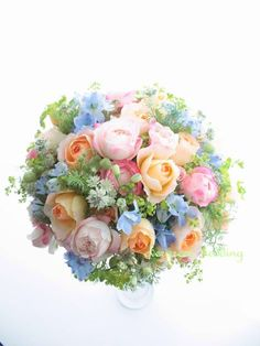 野の花風春のミックスカラーブーケ : エバーグリーン 花日記