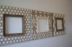 Set of 3-10x10 Opening Distressed Picture Frames Hand painted in Chocolate and Vintage Cream