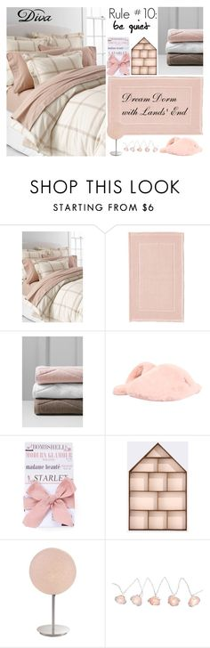 """""""Design Your Dream Dorm with Lands' End: Contest Entry"""" by yours-styling-best-friend ❤ liked on Polyvore featuring interior, interiors, interior design, home, home decor, interior decorating, Lands' End, UGG Australia, DIVA and Tri-coastal Design"""