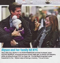 Baby CZ :: Life & Style | October 16, 2009    Alyson Hannigan's daughter Satyana wearing our Baby CZ Stiped Pom-pom Cashmere Hat!