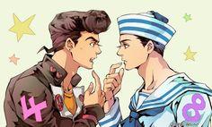 Jojo's Bizarre Adventure Anime, Jojo Bizzare Adventure, Anime Boys, Gakuen Handsome, Otaku, Jojo Parts, Jotaro Kujo, Jojo Memes, Manga