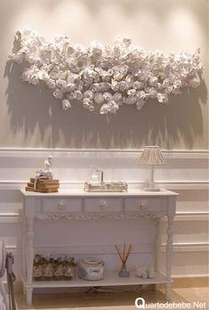 decoração quarto bebê painel flores