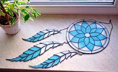 Large 12 Stained Glass Dreamcatcher Dream catcher in