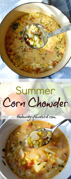 Simple corn chowder with sweet corn, potatoes and flavorful broth made from simmering the shucked cobs.